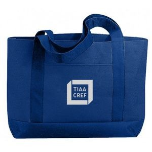 Solid Color Poly Tote Bag w/ Gusset